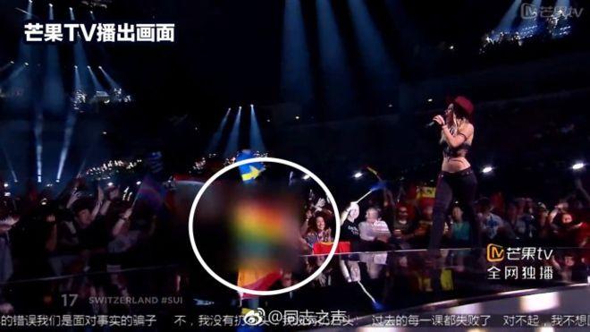 Eurovision Song Contest: bandiere rainbow e tatuaggi oscurati dalla TV cinese
