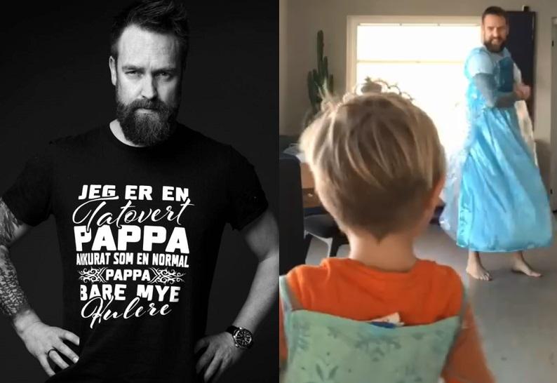 «Mamma è uscita»: l'attore diventa Elsa di Frozen per il figlio – Guarda il video