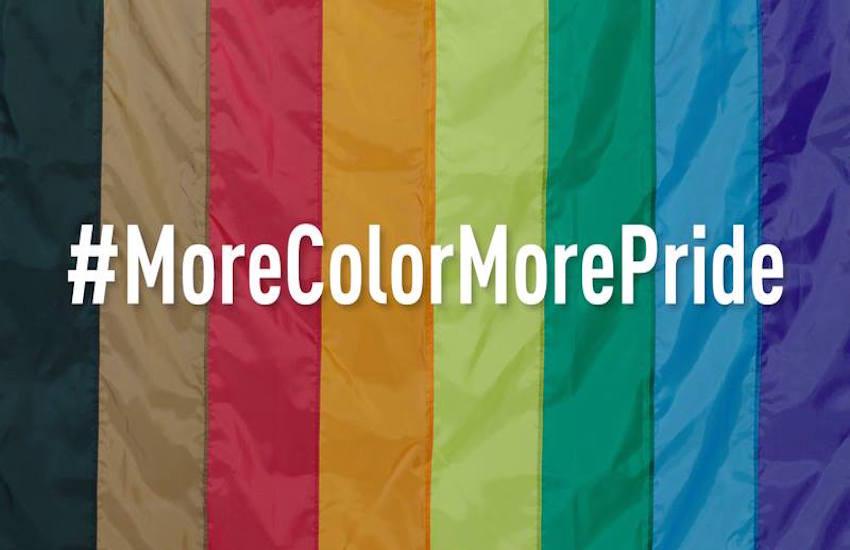 Una bandiera rainbow a 8 colori per includere le minoranze etniche?
