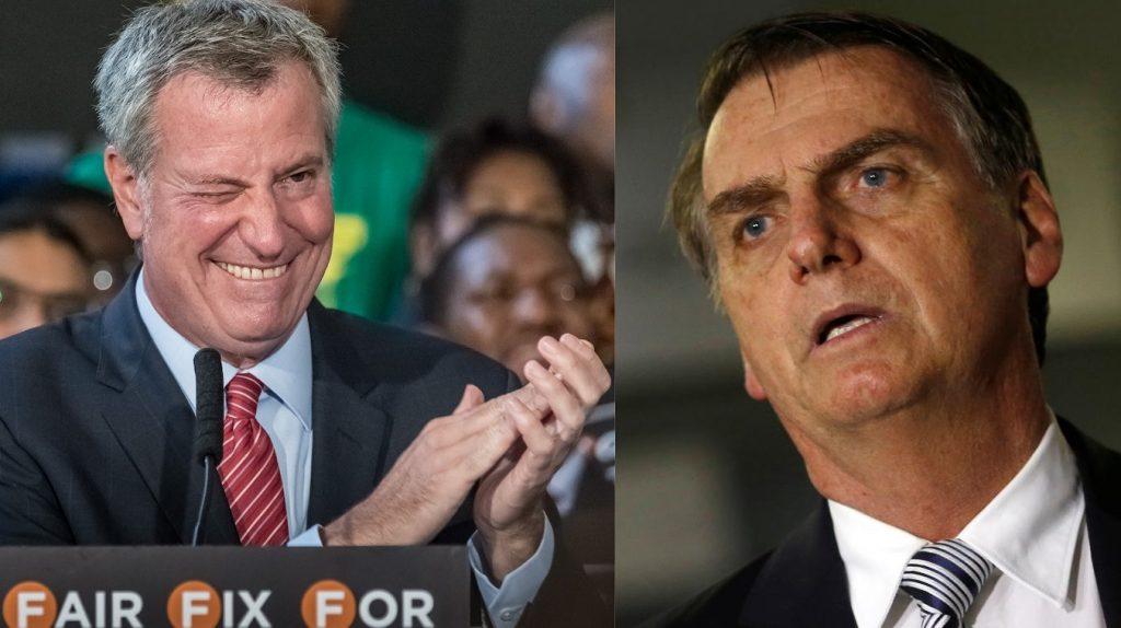 Il sindaco di New York fa saltare il viaggio di Bolsonaro alla grande mela