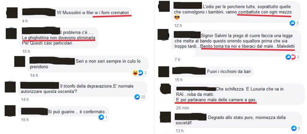 """Pioggia di insulti omofobi contro il Bari Pride fra """"forni"""" e """"camere a gas"""""""