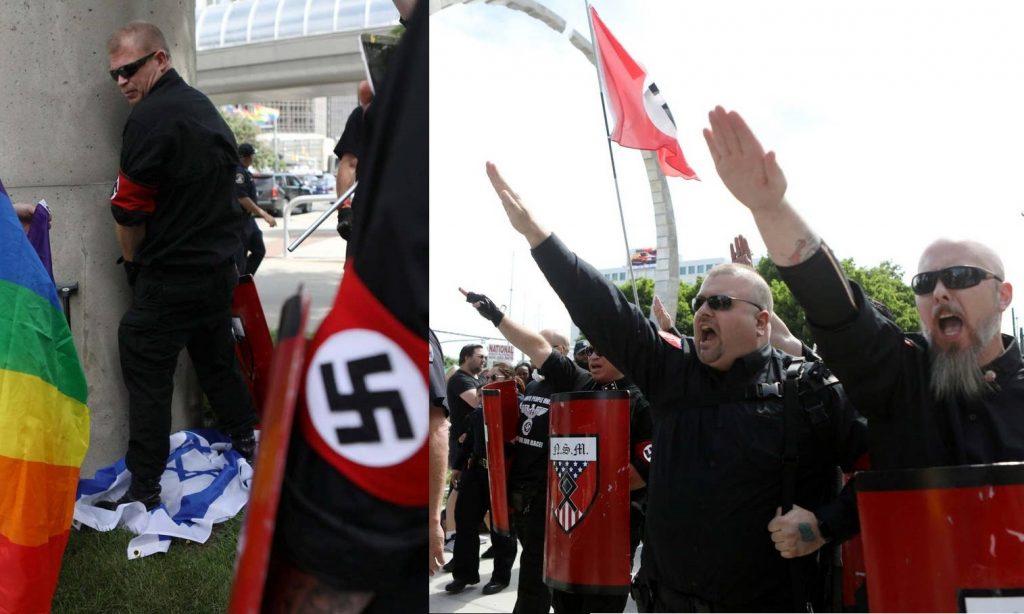 Detroit Pride, irruzione dei neonazisti che strappano e urinano su bandiere
