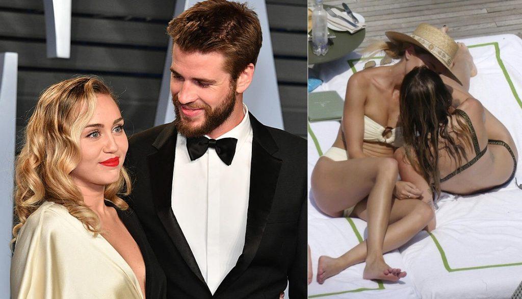 Miley Cyrus, fresca di separazione con Liam, si consola con una blogger in Italia