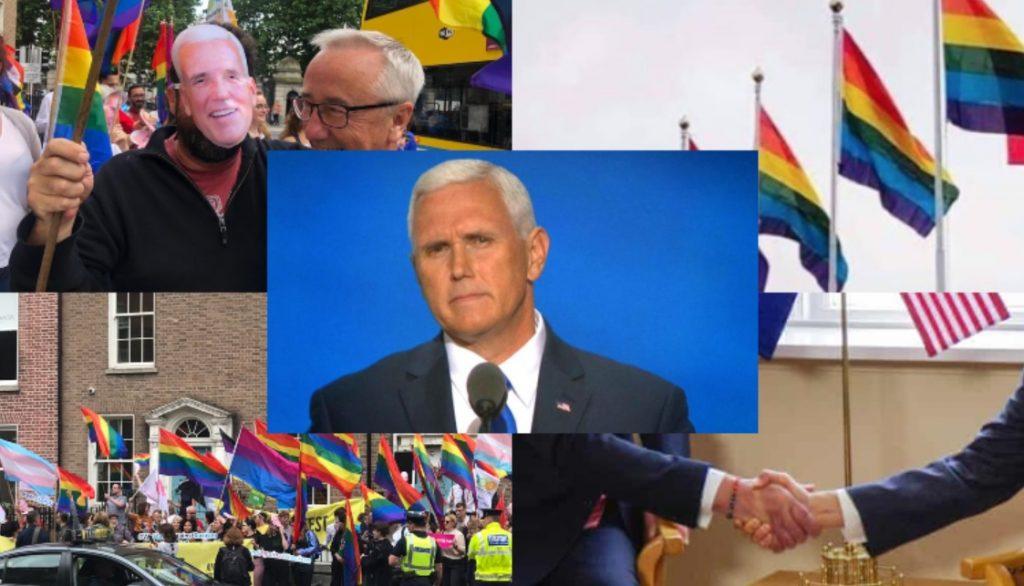 Mike Pence in visita in Europa, dove ad aspettarlo c'è un incubo rainbow