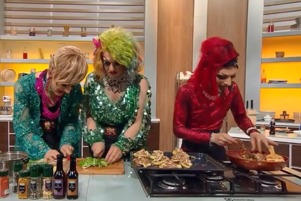 "Tre drag queen italiane al ""Master Chef"" rumeno: guarda il video"