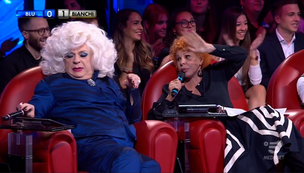 Amici Celebrities, Ornella Vanoni a Platinette: «Sei più uomo o più donna?»