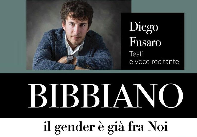 "Diego Fusaro porta a teatro ""Bibbiano – Il gender è già fra Noi"""