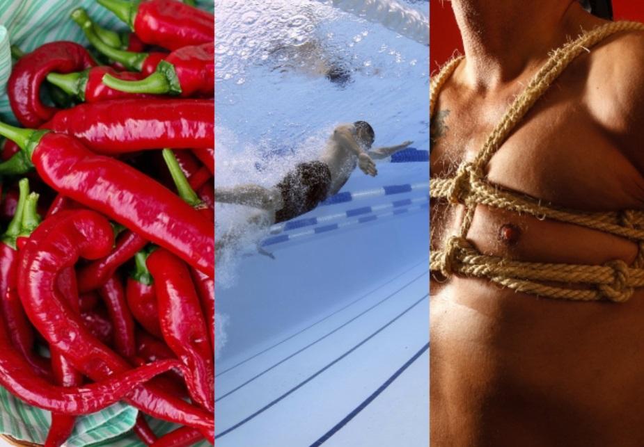 Cos'hanno in comune il peperoncino, il nuoto e il sadomaso?