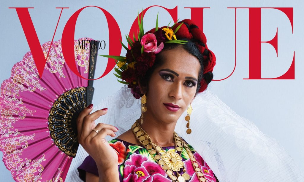 Vogue dedica la copertina di dicembre Estrella Vazquez, muxe di Oaxaca