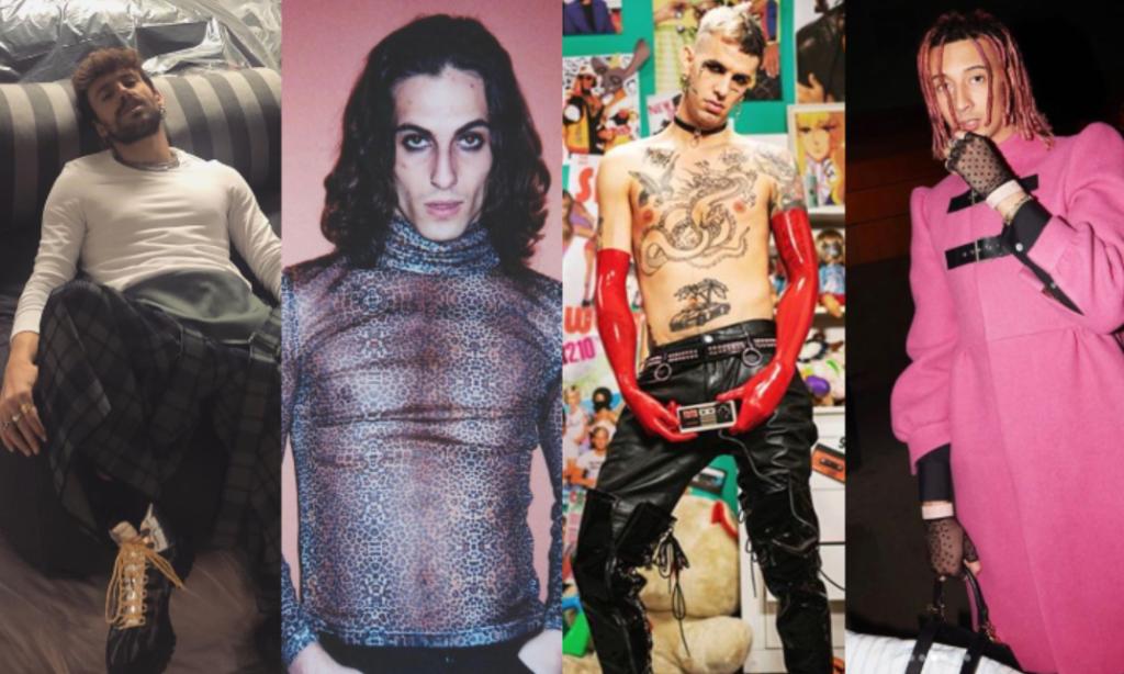 I look di Achille Lauro, Damiano David, Ghali e Aiello contro il machismo