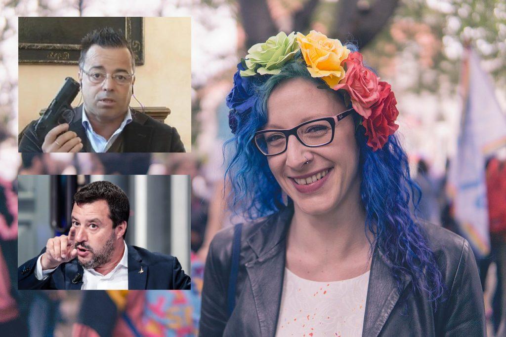 Attivista LGBT fa black humor su Buonanno, Salvini la mette alla gogna