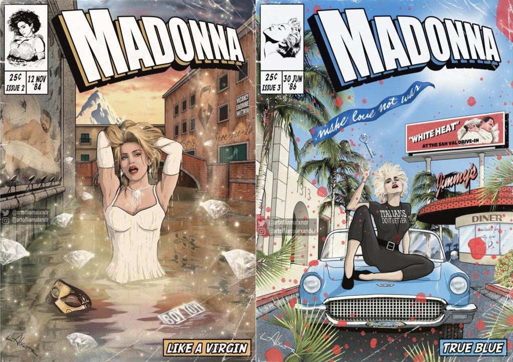 Madonna diventa un fumetto