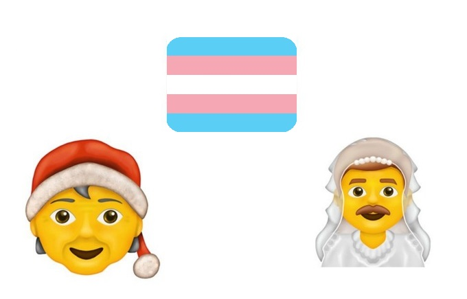 Dalla bandiera dell'orgoglio trans a Babbo Natale non-binary: le nuove emoji sono inclusive