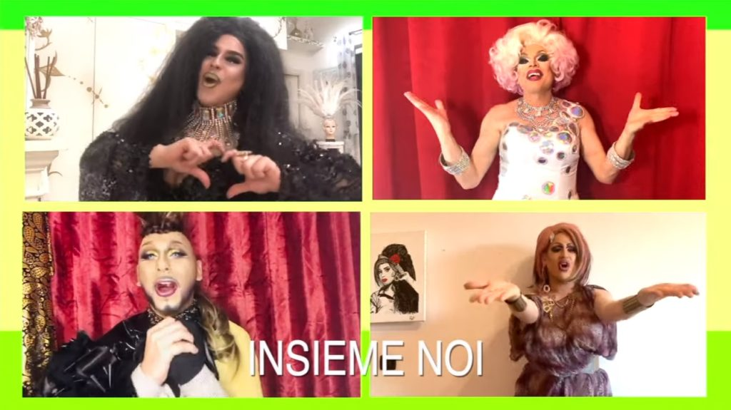 """Vamos A Bailar, Tutti in Quarantena"": le drag queen italiane ballano nelle loro case"
