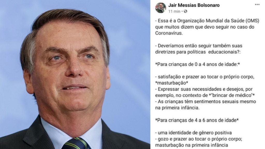 La fake news di Bolsonaro contro l'OMS: «Promuove masturbazione infantile e omosessualità»