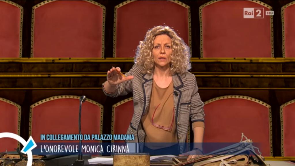 Quella volta che Lucia Ocone imitò la senatrice Monica Cirinnà