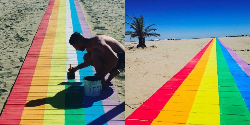 Rimini, una lunga passerella arcobaleno per il Pride Month