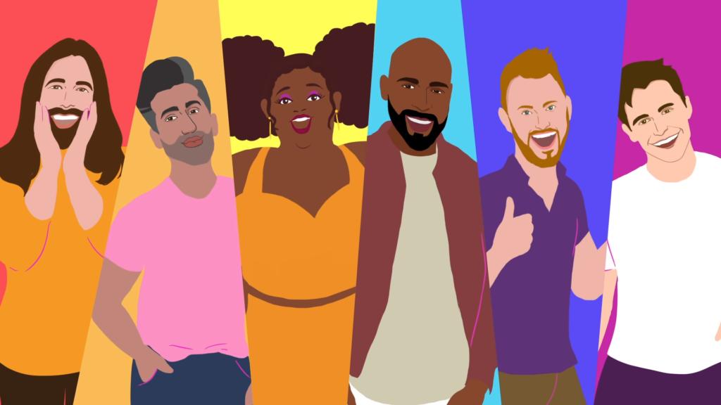 Lizzo celebra l'orgoglio LGBT+ in un video animato per Soulmate con i protagonisti di Queer Eye