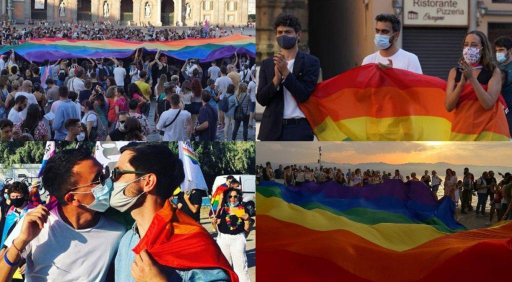 Il Pride 2020 a Napoli, Firenze, Pescara, Reggio Calabria: un sabato d'orgoglio
