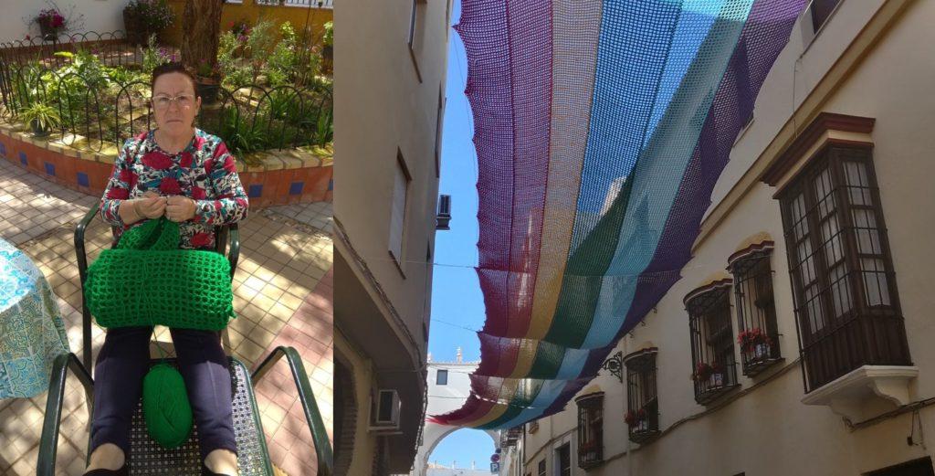 Spagna, 13 donne creano all'uncinetto una bandiera arcobaleno lunga 50 metri