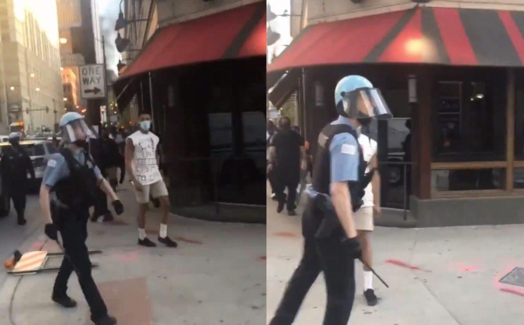 Chicago, poliziotto urla una frase omofoba contro un manifestante: «Fott**o fro**o»