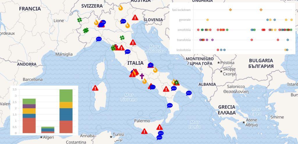 Da Bergamo a Palermo aumentano i casi di omotransfobia: la denuncia di Arcigay