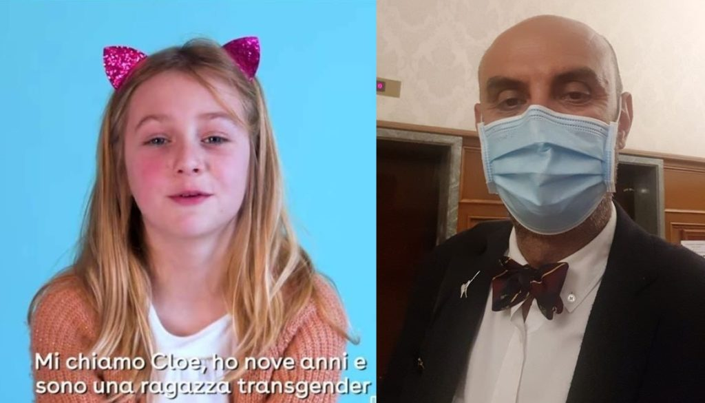 Simone Pillon sentenzia sull'identità di genere di una bambina di 9 anni