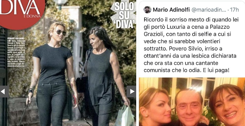 Mario Adinolfi contro Francesca Pascale: «Povero Berlusconi, irriso a 80 anni da una lesbica»