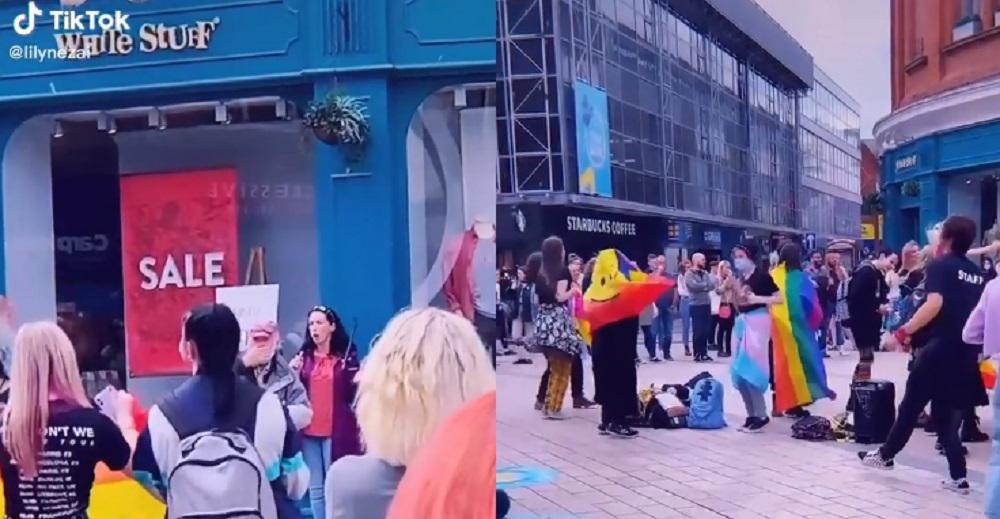Predicatrice protesta contro il Pride, manifestanti rispondono con Born This Way