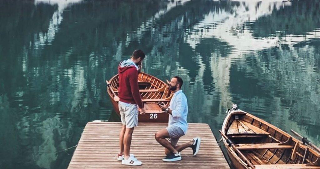 L'ex tronista Alex Migliorini si sposa: la proposta di matrimonio al Lago di Braies