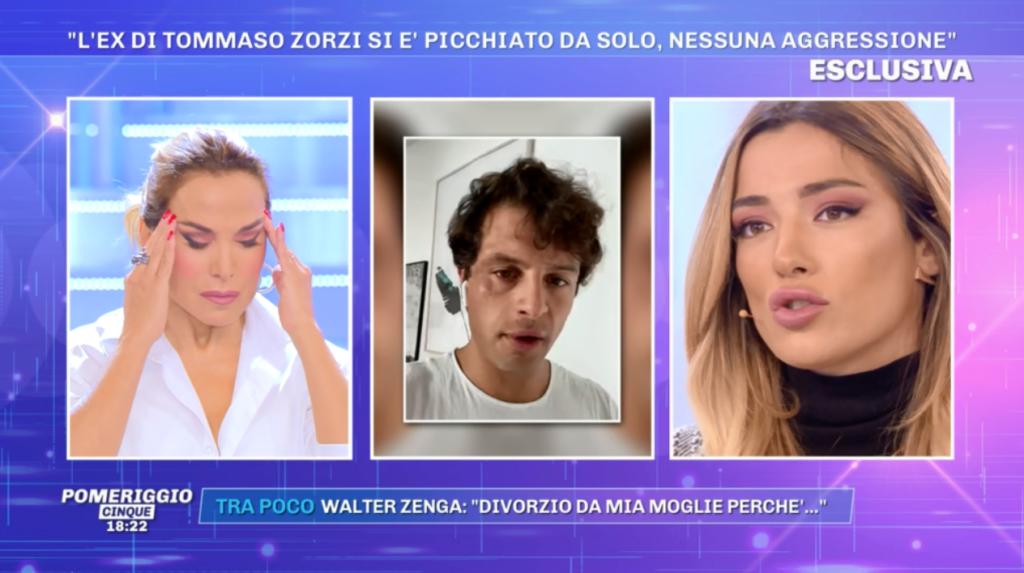 Alberto De Pisis a Pomeriggio 5: «Iconize si è tirato un surgelato in faccia per fingere l'attaco omofobo»