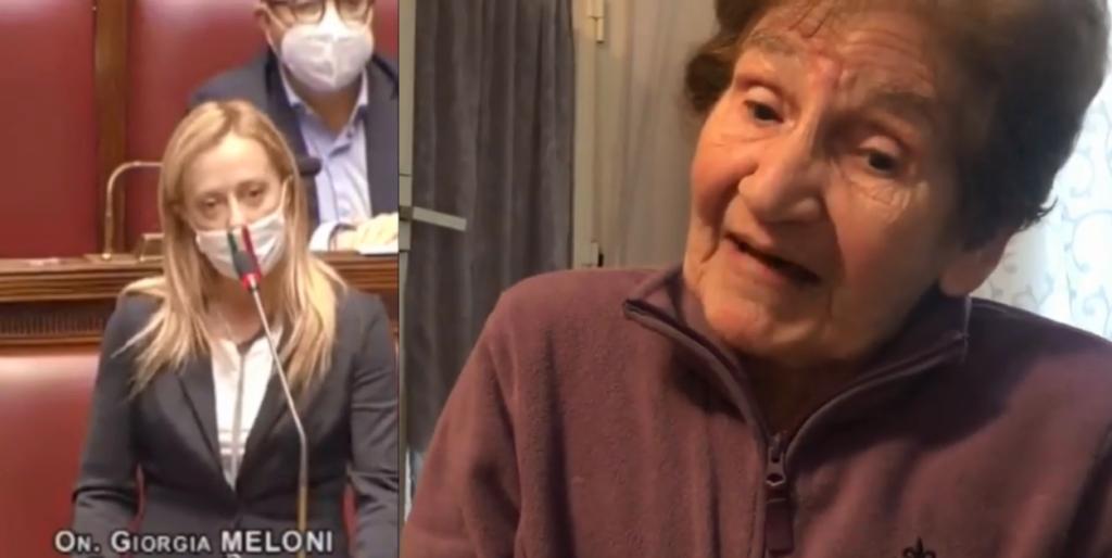 «Mai mettersi contro una nonna»: l'84enne Melina ha un messaggio per Giorgia Meloni
