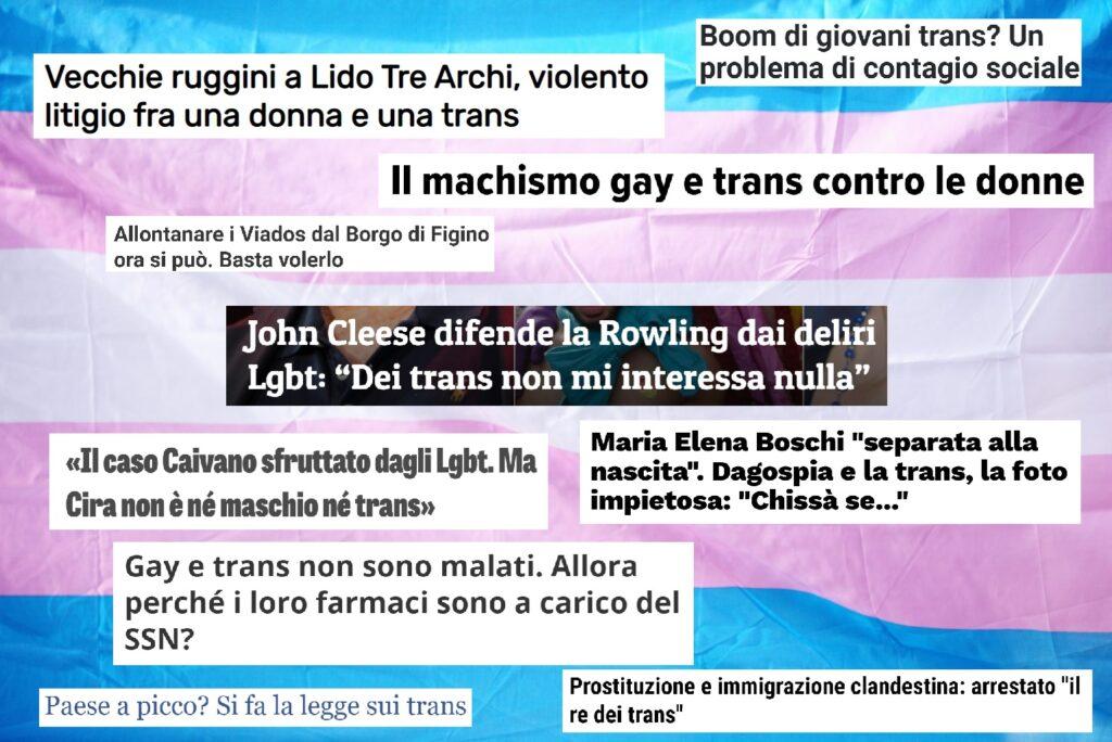 Gli effetti della transnegatività nei media sulla salute delle persone transgender
