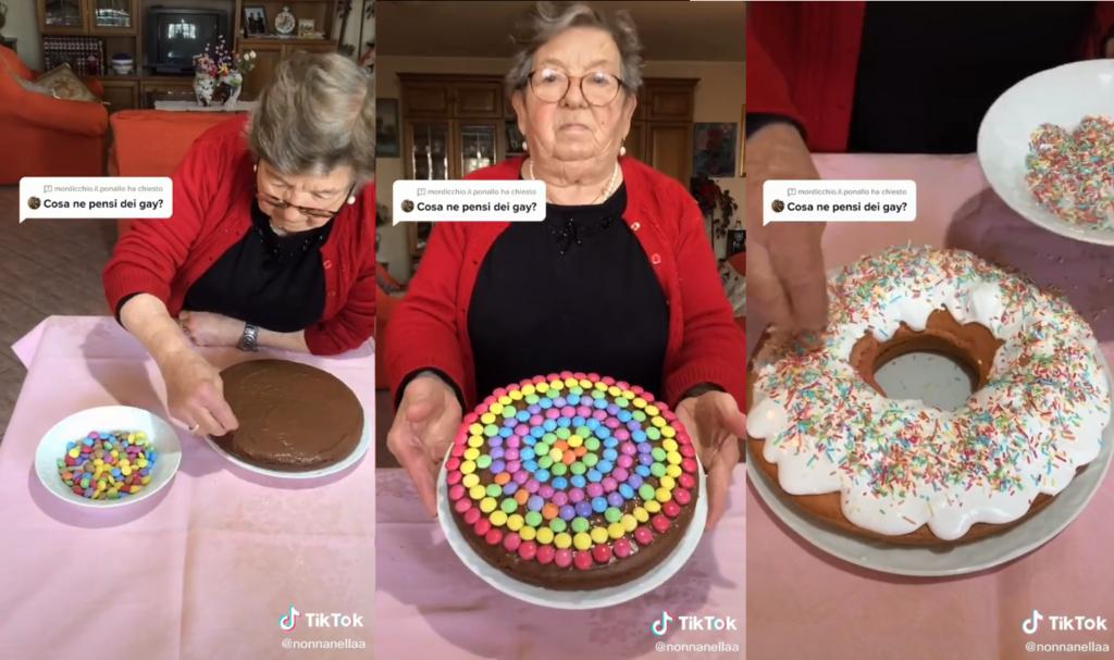 Nella, la nonna-influencer che sforna torte arcobaleno contro l'omofobia