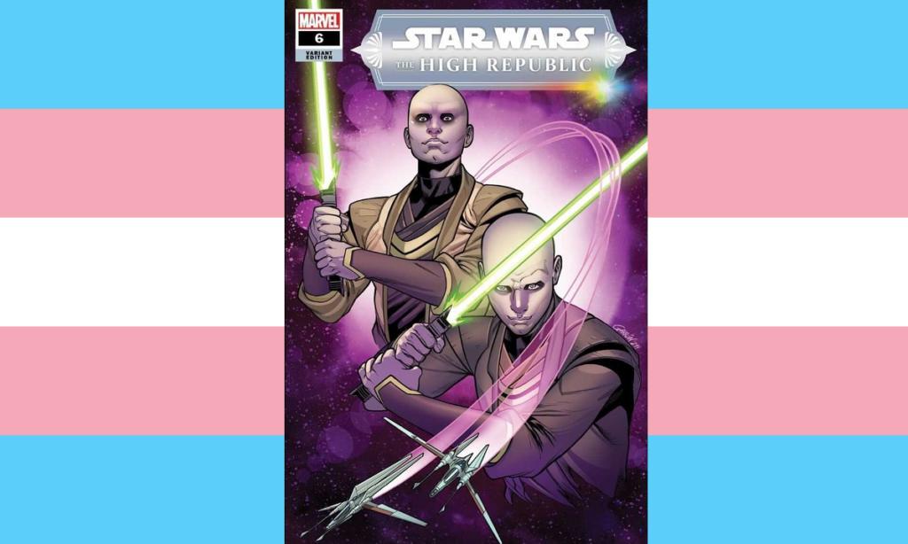 Due gemelli Jedi trans non-binary protagonisti della copertina del fumetto di Star Wars