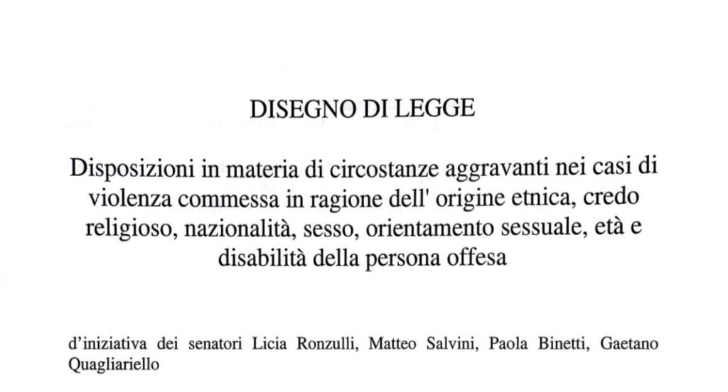 Legge Zan, Lega e Forza Italia presentano il contro-ddl omofobia: meno tutele per tutti