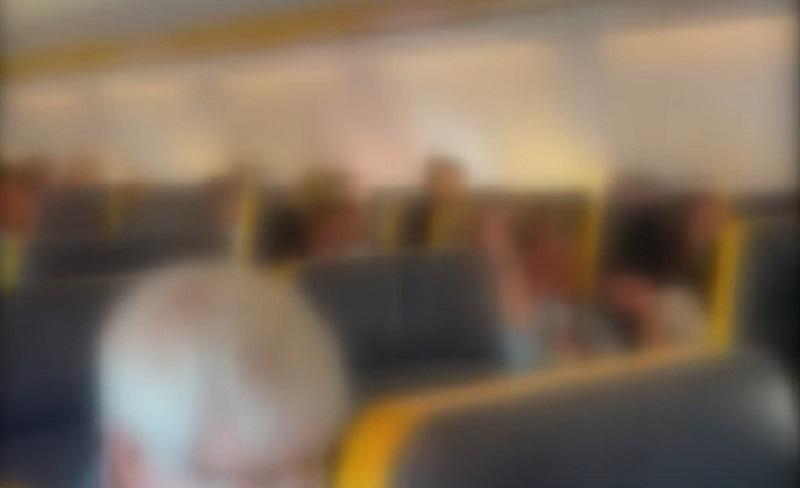 Insulti sessisti e omofobi di una no-mask in aereo: «hai la faccia di lesbica di m***a»