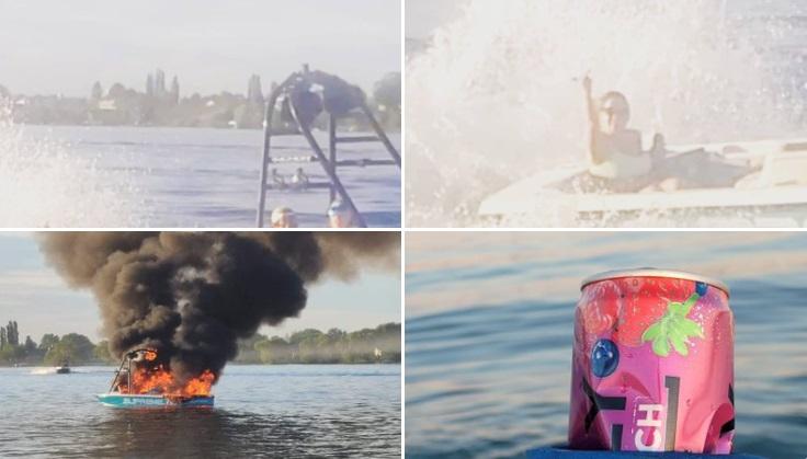 Instant karma: insultano una famiglia arcobaleno, poi la loro barca prende fuoco
