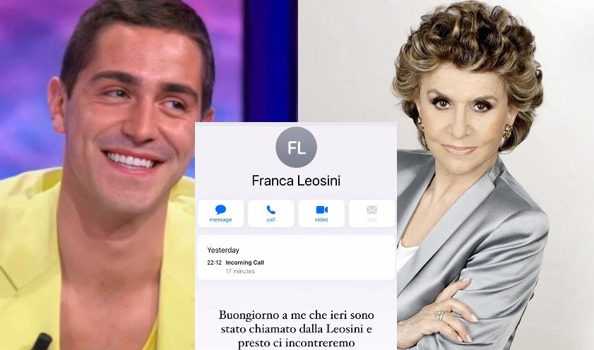 Franca Leosini telefona a Tommaso Zorzi: «Mi ha dato il numero Alba Parietti»