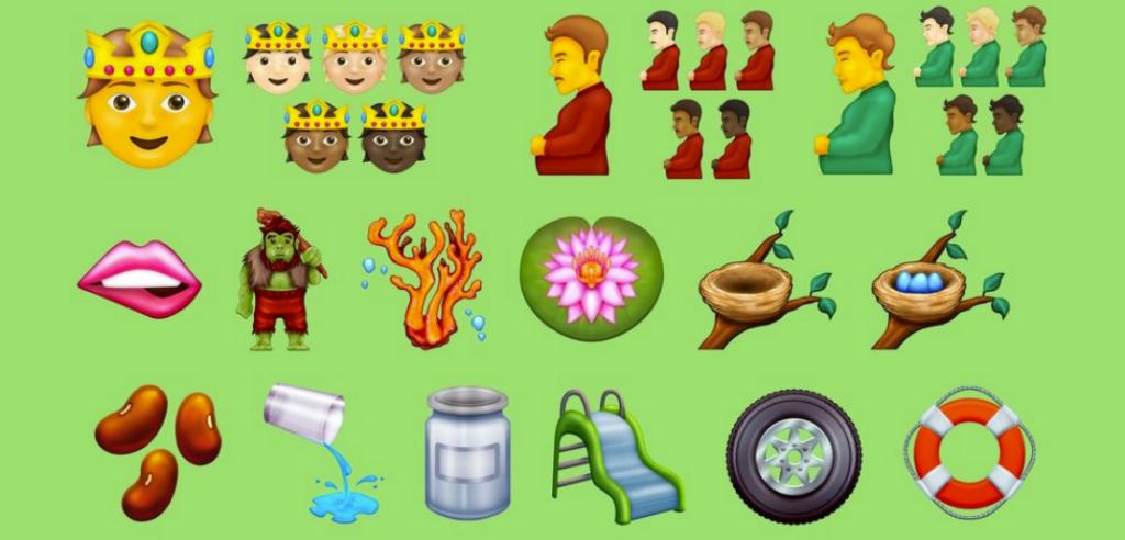 Un uomo in gravidanza tra le nuove emoji disponibili da fine 2021
