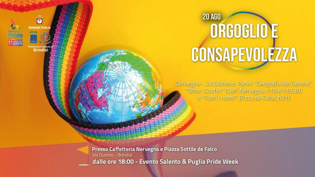 """Orgoglio e Consapevolezza: a Brindisi un convegno LGBT+ sui """"corpi in movimento"""" alla vigilia del Pride"""